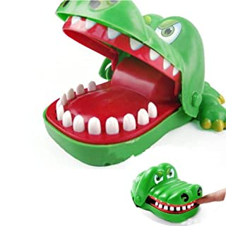 Aquiver Big Crocodile Mouth Dentist Bite Finger ,Family Game Toy Hot for Kids Xmas Gift,5Pcs