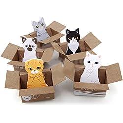 Gala_Gala - Notas adhesivas (5paquetes), diseño de gatos