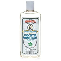 Thayers Alcohol-Free Witch Hazel with Organic Aloe Vera Formula Toner, Unscented 12 oz (Pack of 2)