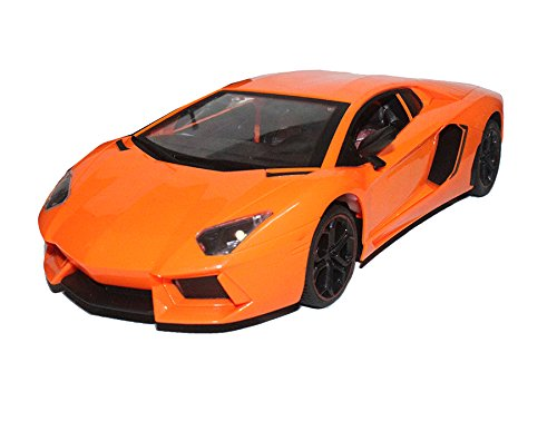 Brunte 1:14 Orange Open type Sporty sedan remote controlled car with opening door working lights well built design superb quality rechargeable battery  available at amazon for Rs.899