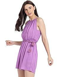 37ac716d48b Amazon.in  Purple - Jumpsuits   Dresses   Jumpsuits  Clothing   Accessories