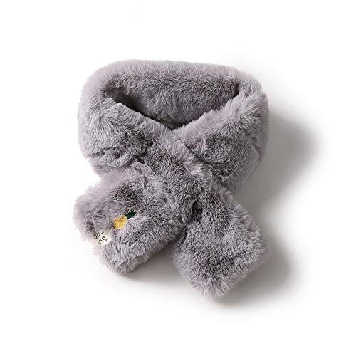 New inverno sciarpa calda spessa per le donne ragazza calda sciarpa tinta unita furry sciarpa spessa coniglio extreme morbido peloso scaldacollo (colore : grigio)