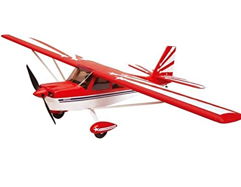 2.4Ghz 6-Channel Radio Control Super Decathlon 1.4m Giant Scale Aerobatic Trainer Airplane RTF EPO High Crash Resistance + Brushless Setup w/Flaps by Midea