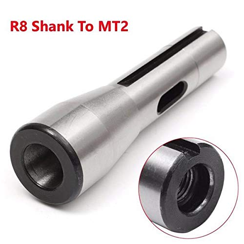 Shank Drill Chuck Arbor (R8 Shank To MT2 R8 Drill Chuck Arbor Morse Taper Adapter Sleeve)