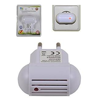 Elektronischer Insektenvertreiber für die Steckdose mit Ultraschall weiß