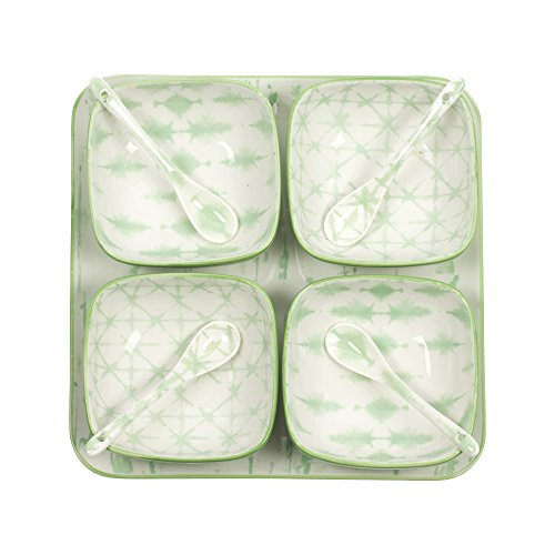 Table Passion - Service aperitif 9 pieces porcelaine midori