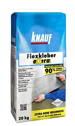 Knauf 201269 20 kg Flexkleber eXtra, zementgrau