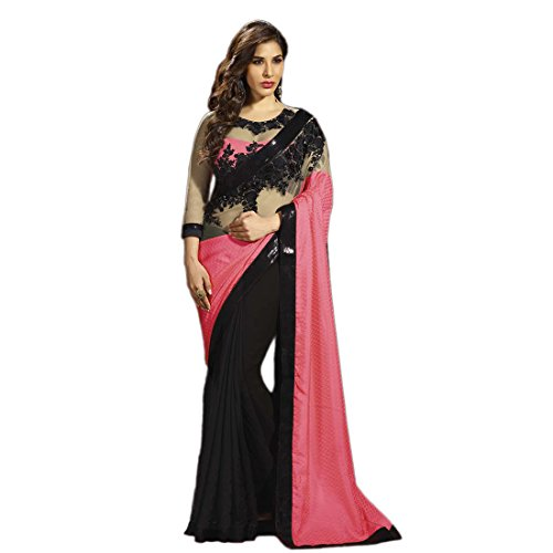 Vedant Georgette Saree (Am_Pink_Pink)