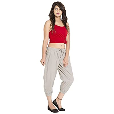 GOODWILL Women's Casual Wear Grey Cotton Sports Capri