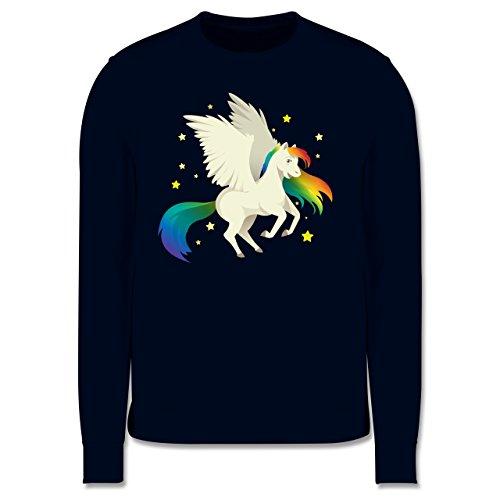 Comic Shirts - Pegasus - Herren Premium Pullover Dunkelblau