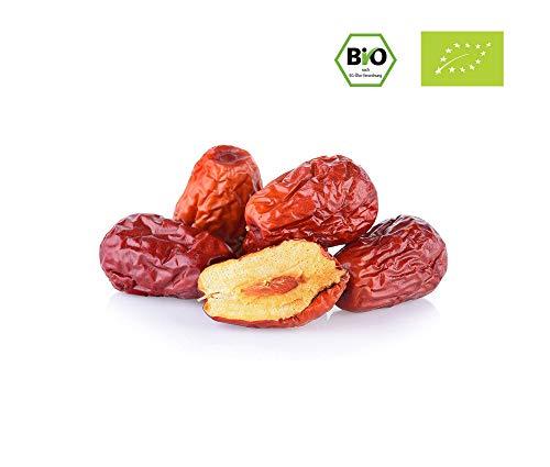Passion4Fruit - Bio-Jujube   Chinesische Datteln   Trockenobst in Bio-Qualität   Superfood-Snack aus China   500 Gramm