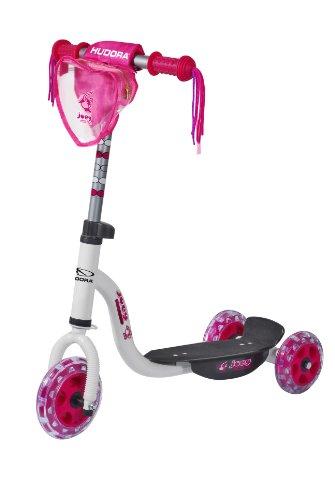 hudora kinder roller joey 3 0 wei pink scooter f r. Black Bedroom Furniture Sets. Home Design Ideas