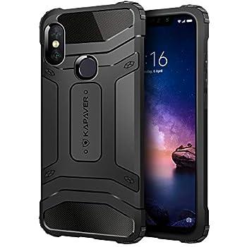 2c838c62bae KAPAVER® Xiaomi Redmi Note 6 Pro Back Cover Case Drop Tested Shock Proof  Carbon Fiber Armor Black (Only for Redmi Note 6 Pro) ((Carbon Black))