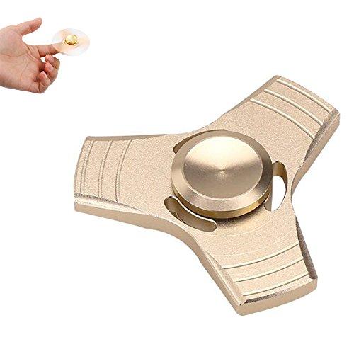 Preisvergleich Produktbild Spinner fidget Toy, nniuk nieuw Aluminium driehoek vingers Gyro hand Spinner vingertop spel laatste voor 5minuten lagere druk voor kinderen/volwassenen.