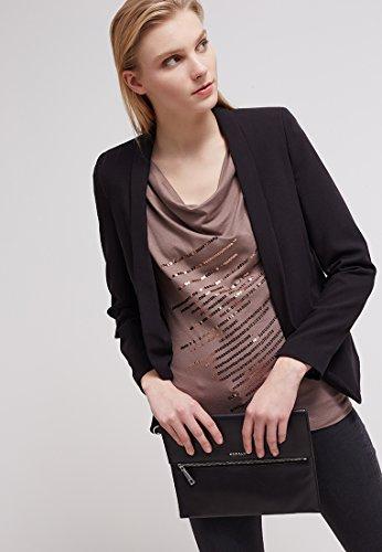 Anna Field T-Shirt donna donna in nero, blu, rosso o talpa - Top senza maniche elegante con paillettes - Top con scollo a cascata per occasioni festose ed eleganti Taupe