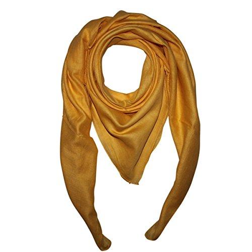 Superfreak Baumwolltuch - Tuch - Schal - 100x100 cm - 100% Baumwolle, Farbe gelb-gold