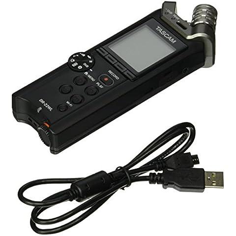 Tascam DR-22WL - Dittafono/Registratore Portatile Professionale Stereo Con WI-FI + Scheda Micro SD 4 GB - 4 Condensatore Cardioide