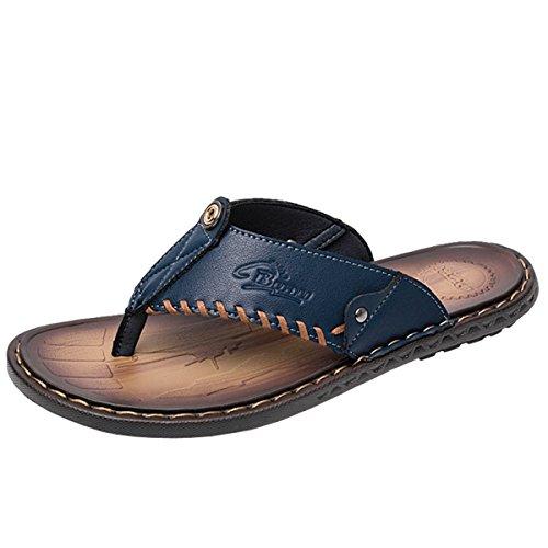Gracosy Flip Flops, Unisex Zehentrenner Flache Hausschuhe Pantoletten Sommer Schuhe Slippers Weich Anti-Rutsch T-Strap Sandalen für Herren Damenr
