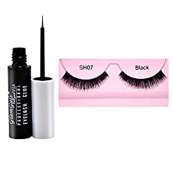 GlamGals Black Eye Lashes with Glue Transparent 6.5 ml