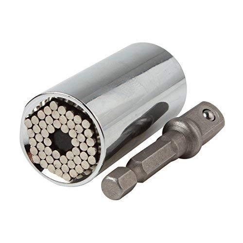 OriGlam, chiave a cricchetto professionale, multi funzione, adattabile, per riparazioni universali, e adattatore per trapano da 7a19mm, 2 pezzi