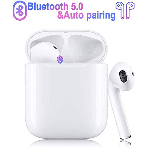cuffie bluetooth 5.0, auricolare bluetooth, auricolare bluetooth 3d stereo hi-fi voce impermeabile ipx5,scatola di ricarica portatile 950 mah 24 ore,per android/airpods/iphone/samsung