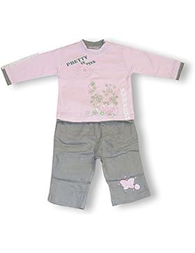 Schnizler Mädchen Bekleidungsset 2 Tlg. Pretty in Pink mit Langarmshirt und Hose mit Schmetterling