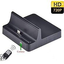 Electro-Weideworld - 720P teléfono móvil Dock cargador cámara espía movimiento activado Mini cámara oculta Dock estación espía cámara