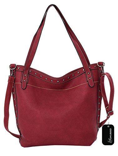 Kukubird Chiara Tote Bag borsa Casual tutti i giorni Red
