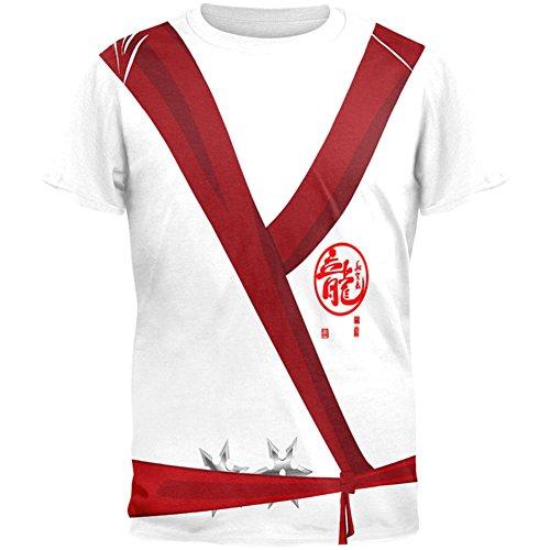 Old Glory Halloween White Shadow Ninja Kostüm Aller Herren-T-Shirt Multi MD