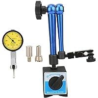 Soporte de base magnética ajustable, soporte de base flexible magnética Soporte con indicador de prueba de indicador Indicador de medida azul Soporte de base universal