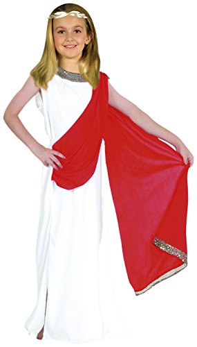 Fiori paolo puella roma antica costume bambina, bianco, l (7-9 anni), 61229.l