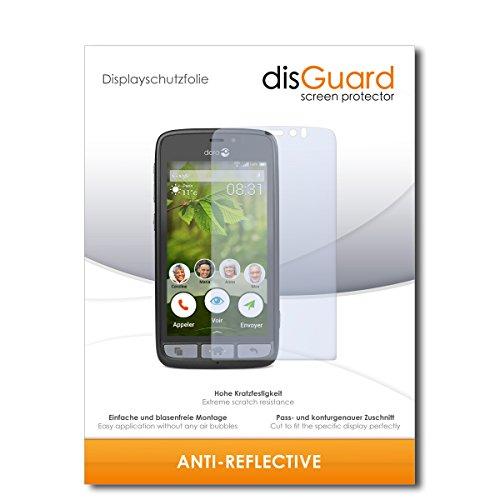 disGuard® Displayschutzfolie [Anti-Reflex] kompatibel mit Doro 8031 [4 Stück] Entspiegelnd, Matt, Antireflektierend, Extrem Kratzfest, Anti-Fingerabdruck - Panzerglas Folie, Schutzfolie