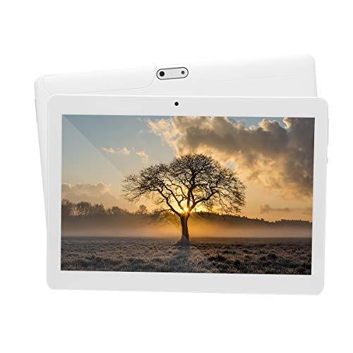 tablet irulu Tablet Android 7.0 da 10 pollici con Processore quad-core WIFI navigazione Bluetooth 4 GB di RAM 64 GB di memoria Dual SIM 3G è anche un cellulare (Bianco)