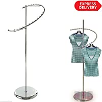 New Heavy Duty Spiral Clothes Garment Dress Hanging Rail