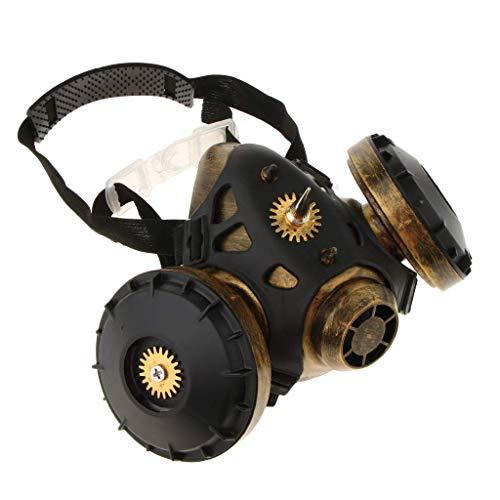Venezianische Phantom Halbmaske - Backbayia Steampunk Halb-Maske Gasmaske Gruselmaske Phantom