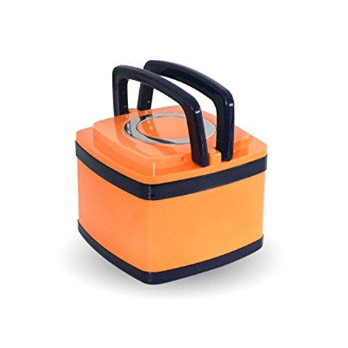 Mehrschichtige Isolierung (Reisebegleiter Kreative Küche Utensilien Geschirr Tragbare Lunch Box Edelstahl 304Vakuum Isolierung, mehrschichtige Student Sicherheit und Gesundheit Schlafsaal Artefakt Orange-1)