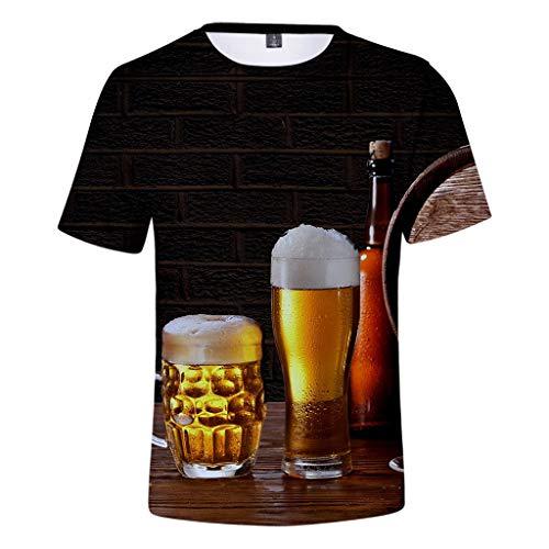 3D T-Shirt Bayerische Bierfest Herren Kurzarm Druck für Oktoberfest - Casual-kragen Collection