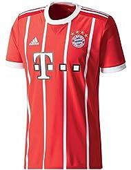 adidas Herren FC Bayern München Home Trikot 17/18 fcb true red/white XS