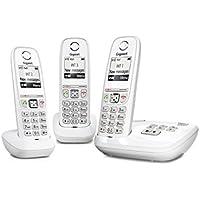 Gigaset AS470A Trio - Téléphone fixe sans fil - Répondeur - 3 combinés - Blanc