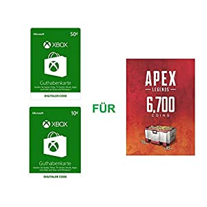 Xbox Live Guthaben für Apex Legends 6.700 Münzen | Xbox One – Download Code