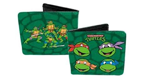 (4x 4) Teenage Mutant Ninja Turtles-TMNT Classic Gruppe Geldbörse Leder