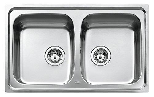 Teka Edelstahl Spüle Küchenspüle Spültisch Spülbecken Einbauspüle mit zwei Becken, UNIVERSO 2C CN MAT