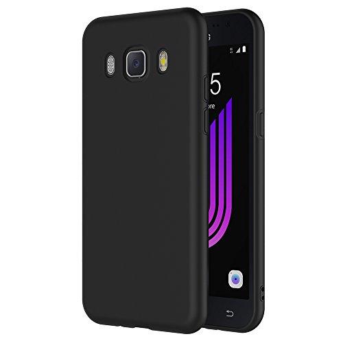 Samsung Galaxy J7 2016 Hülle, AICEK Schwarz Silikon Schutzhülle für Galaxy J7 2016 J710 Case TPU Bumper Samsung Galaxy J7 2016 Handyhülle (5.5 Zoll)