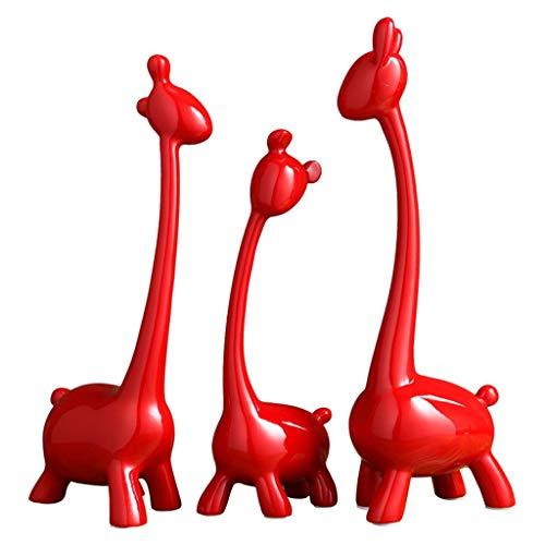Estatuas Decoración Jirafa roja decoración