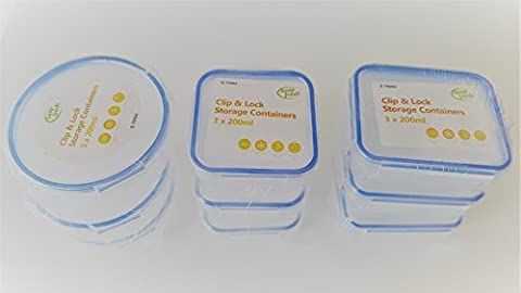 Keep Fresh Clip Lock Storage - 9PK Assorted Sizes