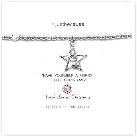 Vida Charms Cristal Estrella de Navidad pulsera