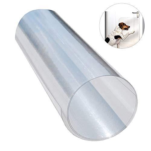 ATpart Hund Kratzschutz für Türen, DIY Schneiden Klare Tür Rahmen, Wand-Sofa Schutz für Innen und Außen Gebrauch (Tür-schutz Für Hunde)