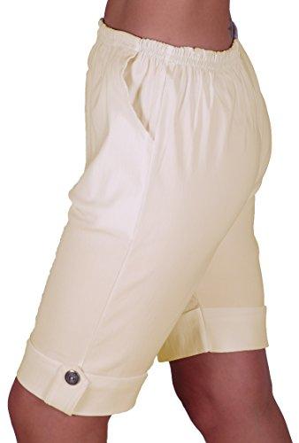 EyeCatch - Short stretch élastique grandes tailles - Eta - Femme Crème