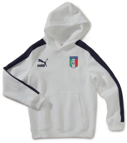 PUMA Jungen Sweatshirt T7 Italia Hoody, White, 152, 740793 02