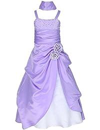 Go2victoria Raso vestito formale per bambini vestito da sera vestito da  damigellina 4-14 anni 3b41cd35e11